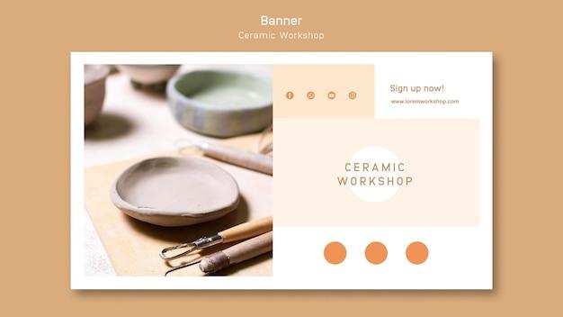 Keramik werkstatt banner design
