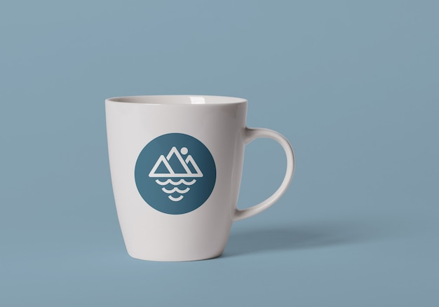 Keramikbecher-logo-entwurfsmodell