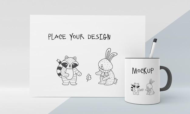 Keramikbechermodell mit individuellem design