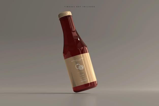 Ketchup oder sauce bottle mockup