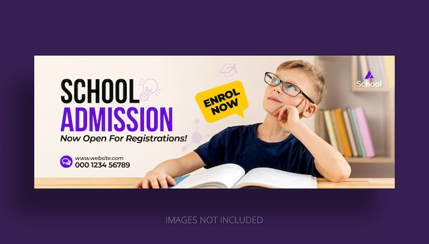 Kid school education zulassung facebook timeline cover vorlage