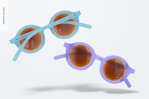Kinder-sonnenbrille mockup, schwimmend