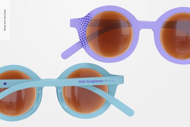 Kinder-sonnenbrillen-modell, nahaufnahme