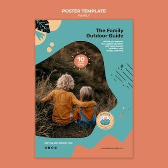 Kinder und eltern familienplakat-design-vorlage