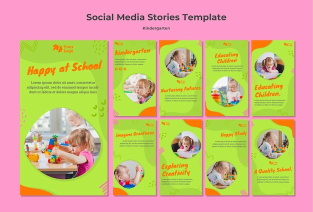 Kindergarten social media geschichten vorlage