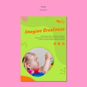 Kindergartenplakat a4 vorlage mit foto