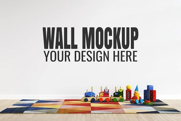 Kinderspielzimmer-innenwandmodell mit spielzeugdekorationen