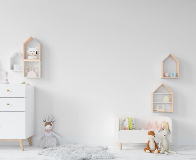Kinderzimmer mit regalen und spielzeug