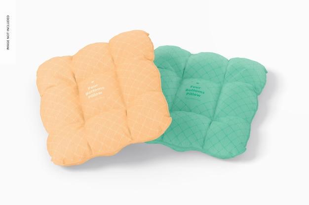 Kissen mit vier knöpfen mockup