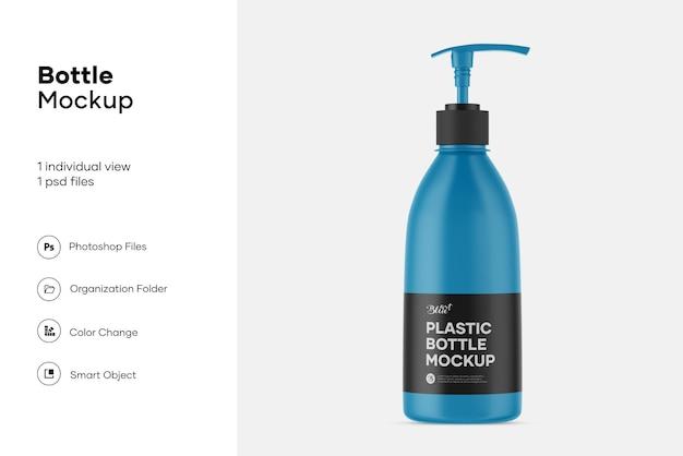 Klare plastikflasche mit pumpenmodell
