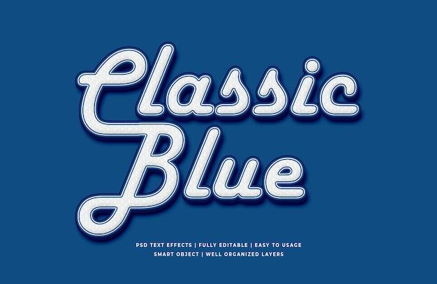 Klassische blaue farbe des texteffekts des jahres 2020