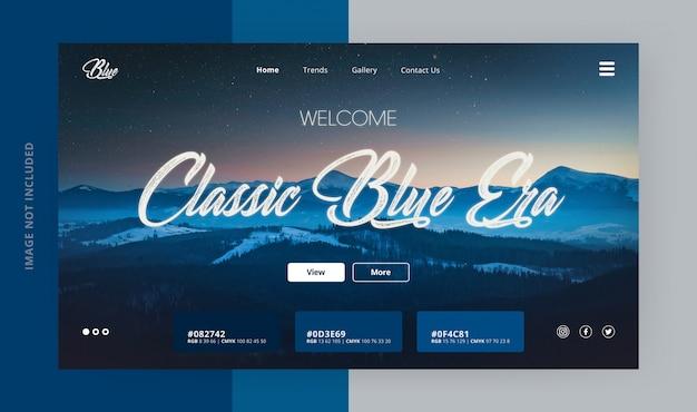 Klassische blue era landing page