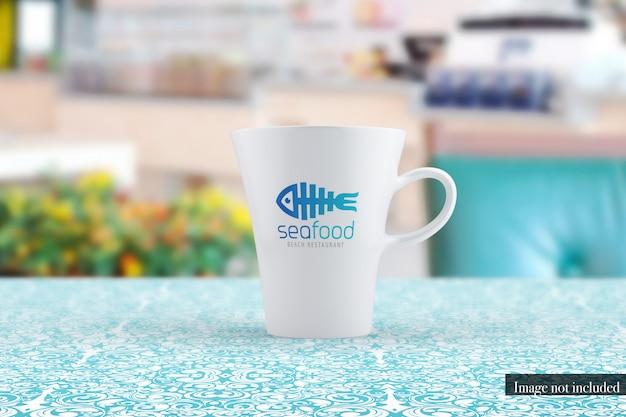 Klassische kaffeetasse mockup vorderansicht