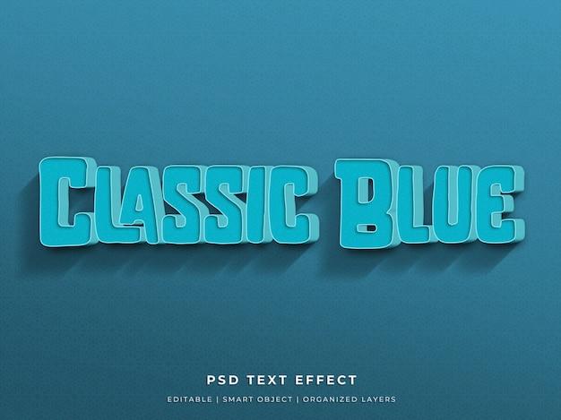 Klassischer blauer effekt des textes 3d