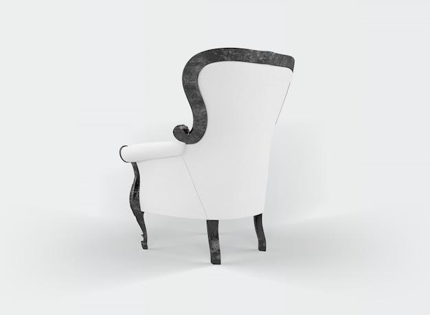 Klassischer sessel auf weiß