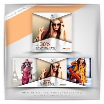 Klassischer stil sale instagram & facebook banner