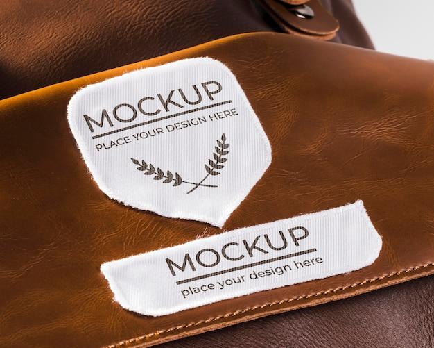 Kleidungsstück patch modell auf ledertasche