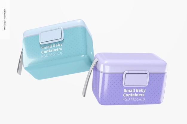 Kleiner babymilchpulverbehälter mockup, schwimmend