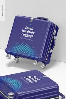 Kleines hardside-gepäckmodell, gelehnt