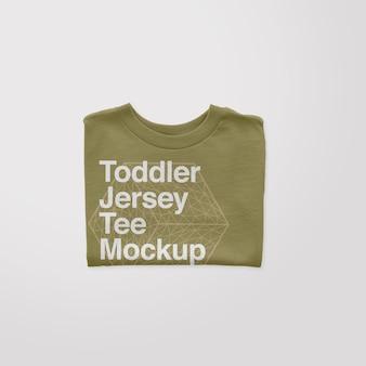 Kleinkind-jersey gefaltetes t-shirt mockup