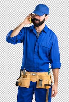 Klempner, der mit mobile spricht