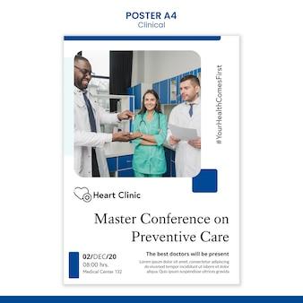 Klinische plakatschablone mit foto Kostenlosen PSD