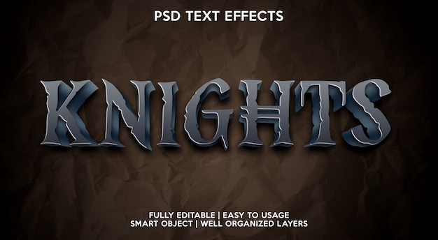 Knights text effekt vorlage