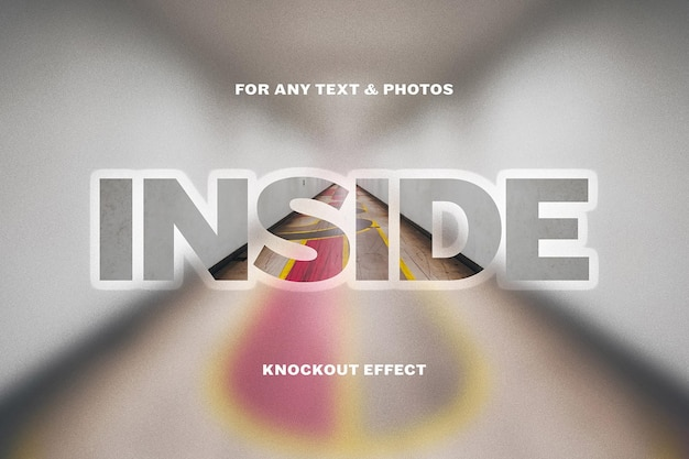 Knockout-unschärfe-texteffektvorlage