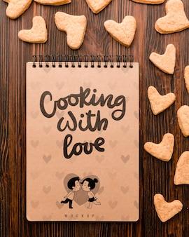 Kochen mit liebeskonzept