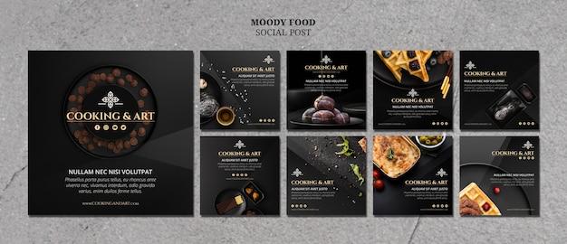 Kochen und kunst social media post