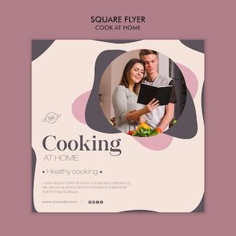 Kochen zu hause flyer design