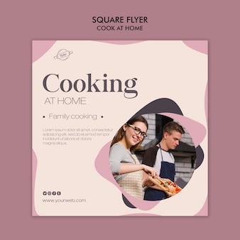 Kochen zu hause flyer thema