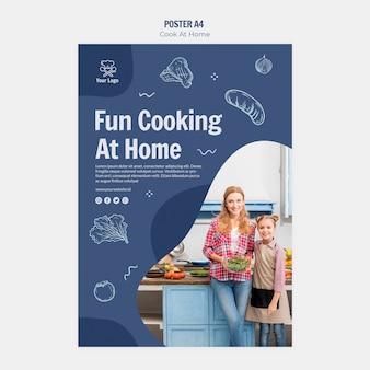 Kochen zu hause plakatgestaltung