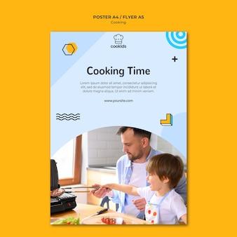 Kochen zu hause plakatkonzept