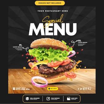 Köstliche burger-social-media-post-vorlage