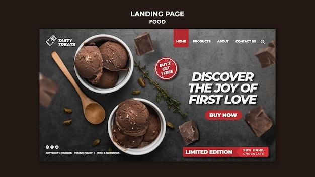 Köstliche dessert-landingpage-vorlage