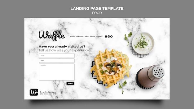 Köstliche food-landingpage Kostenlosen PSD