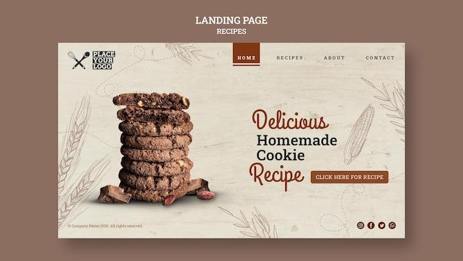 Köstliche hausgemachte keksrezept-landingpage