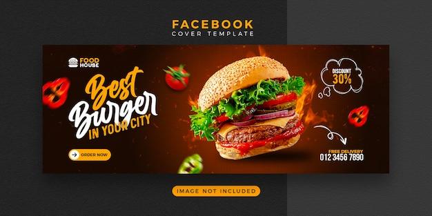 Köstliche lebensmittelmenü facebook-cover-vorlage