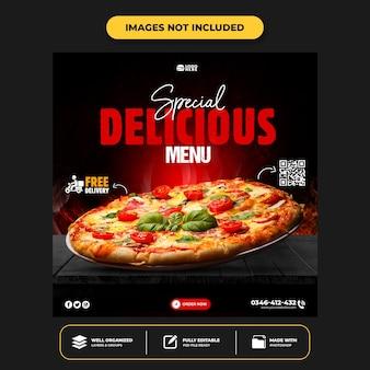 Köstliche pizza-social-media-post-vorlage
