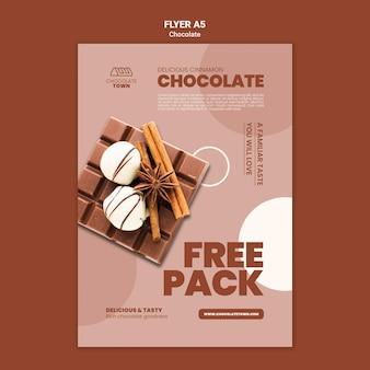 Köstliche schokoladen-flyer-vorlage
