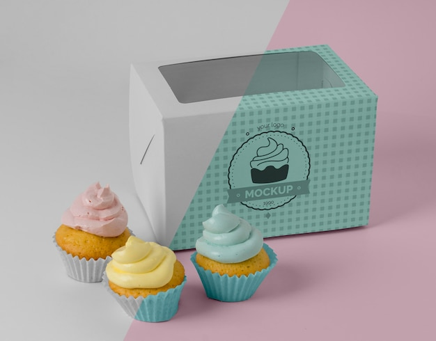 Köstliches cupcake-modell