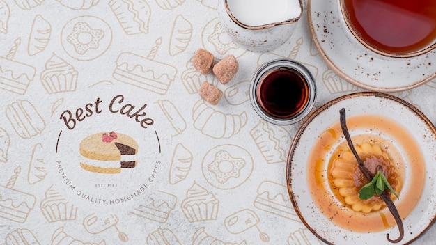 Köstliches dessertkonzeptmodell