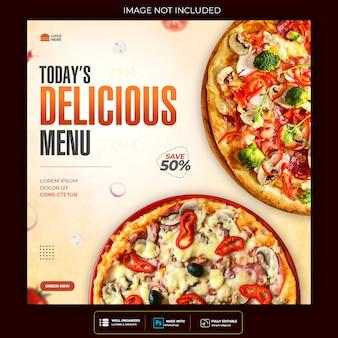 Köstliches essen social media post vorlage premium psd