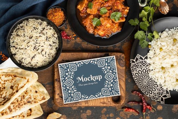 Köstliches indisches essenssortiment