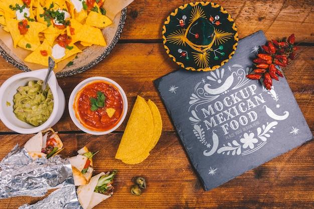 Köstliches mexikanisches lebensmittelkonzeptmodell