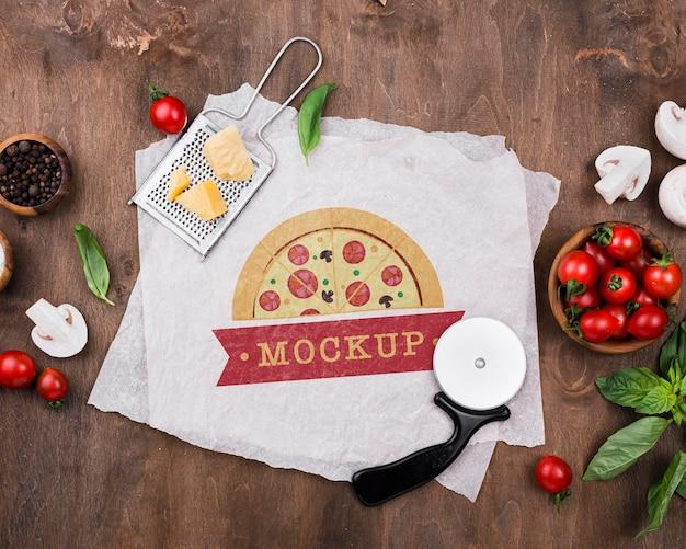 Köstliches pizza-konzept-modell