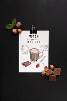 Köstliches schokoladenkonzeptmodell