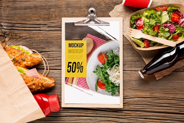 Köstliches street food-konzeptmodell