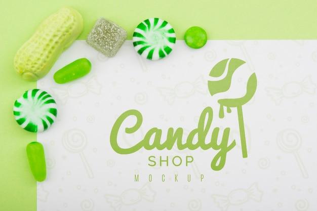 Köstliches süßigkeiten-konzeptmodell
